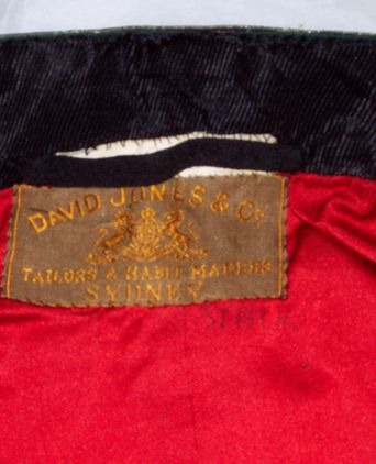 Label on mess jacket
