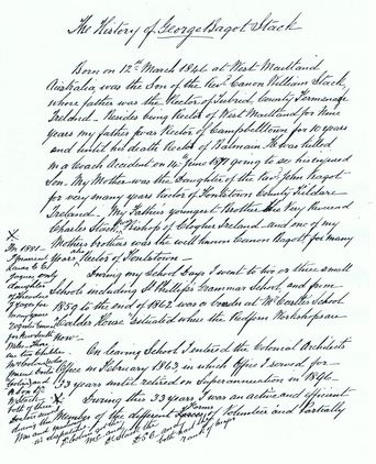 The History of George Bagot Stack Page 1 written by George Bagot Stack