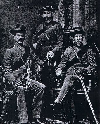 Captain Stack in uniform far right